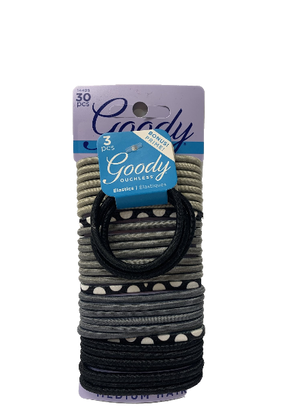 Goody 33pc Hair Ties Shades of Grey