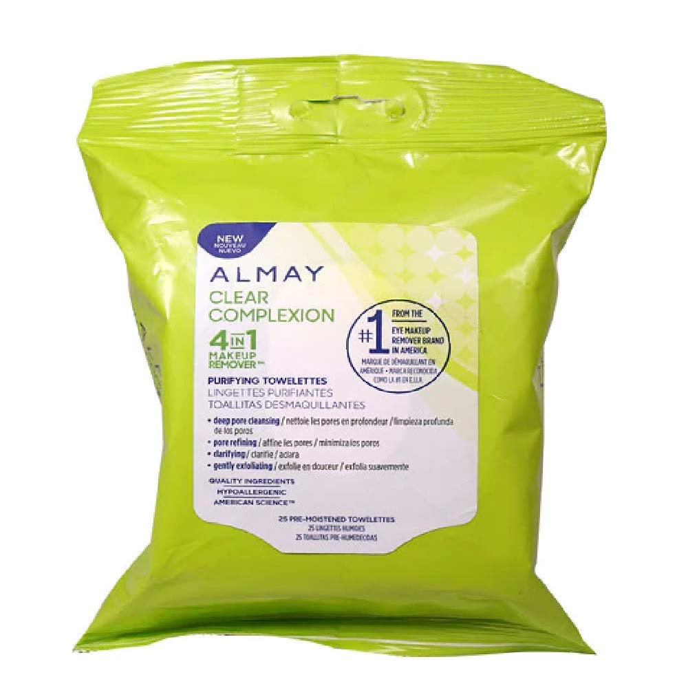 Almay Clear Complexion 4 in 1 Purifying Towelettes 25 wipes
