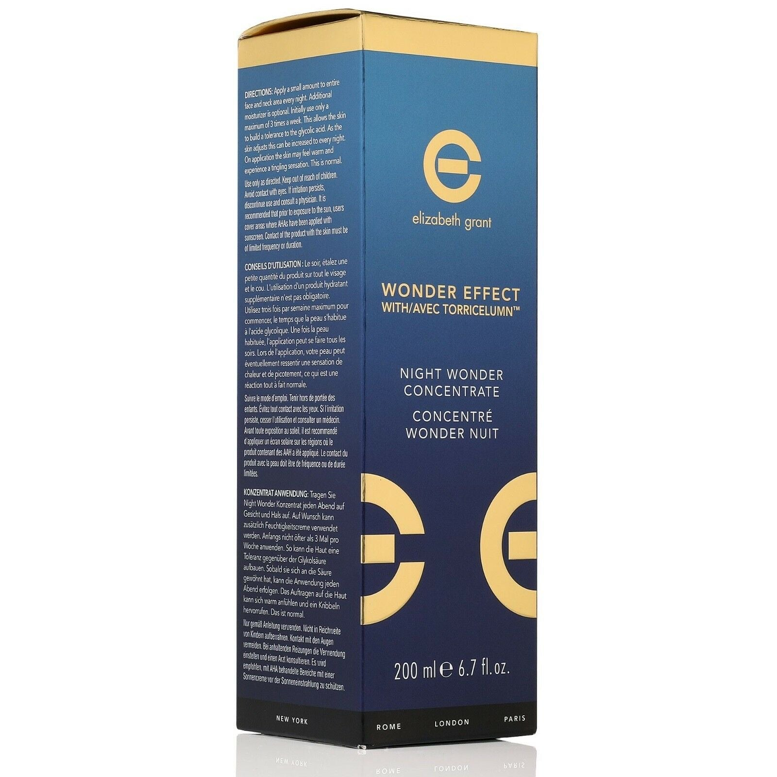 ELIZABETH GRANT Wonder Effect Night Wonder Concentrate 200ml