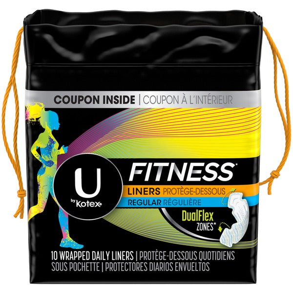 U by Kotex Fitness 10 Wrapped Daily Liners