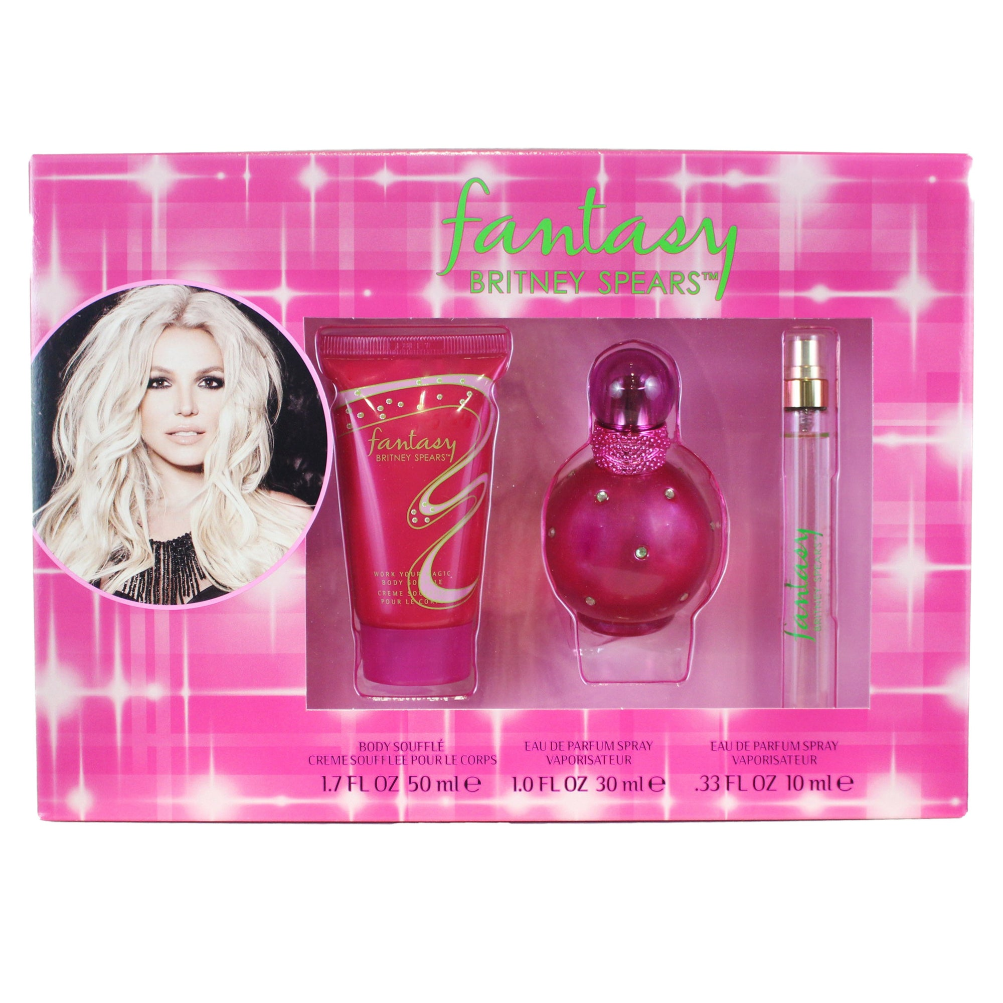 Britney Spears Fantasy Gift Set 3pc 50ml EDP