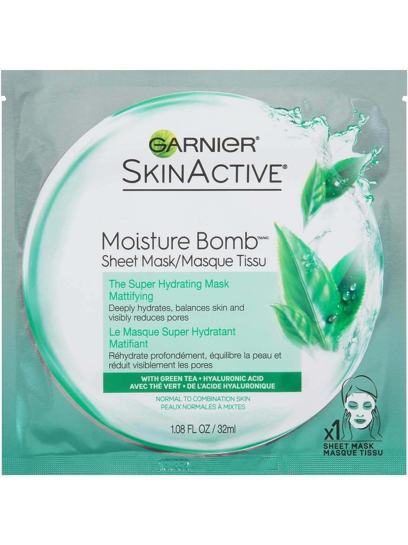 Garnier Skin Active Moisture Bomb Sheet Mask - Super Hydrating and Mattifying