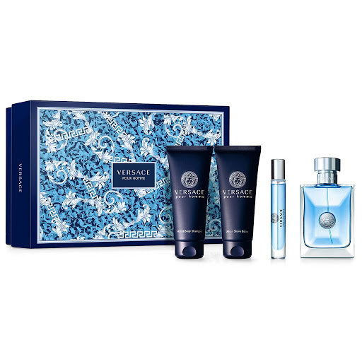 Versace Pour Homme Gift Set 4pc For Men 100ml EDT