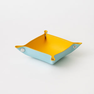 Leather Tray (Yellow/Saxe Blue)