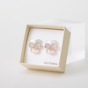 Mini Viola pierced earrings