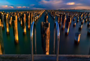 Sunset over the Princes Pier in Port Melbourne