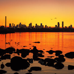 Sunrise over the City of Melbourne
