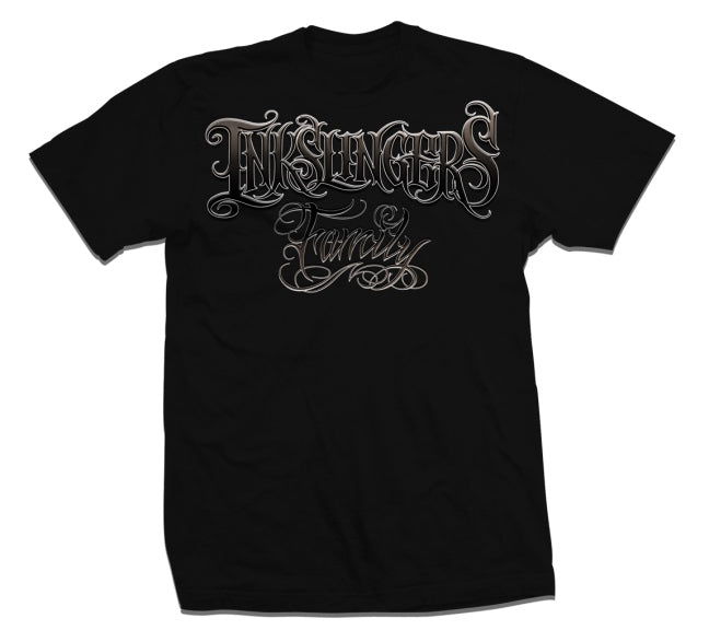 Inkslingers Family Black Tee Shirt