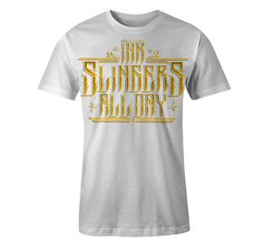 Inkslingers 'All Day' White Tee Shirt
