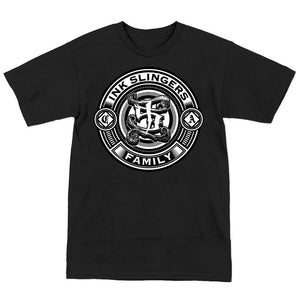 Inkslingers Circle Logo Black Tee Shirt