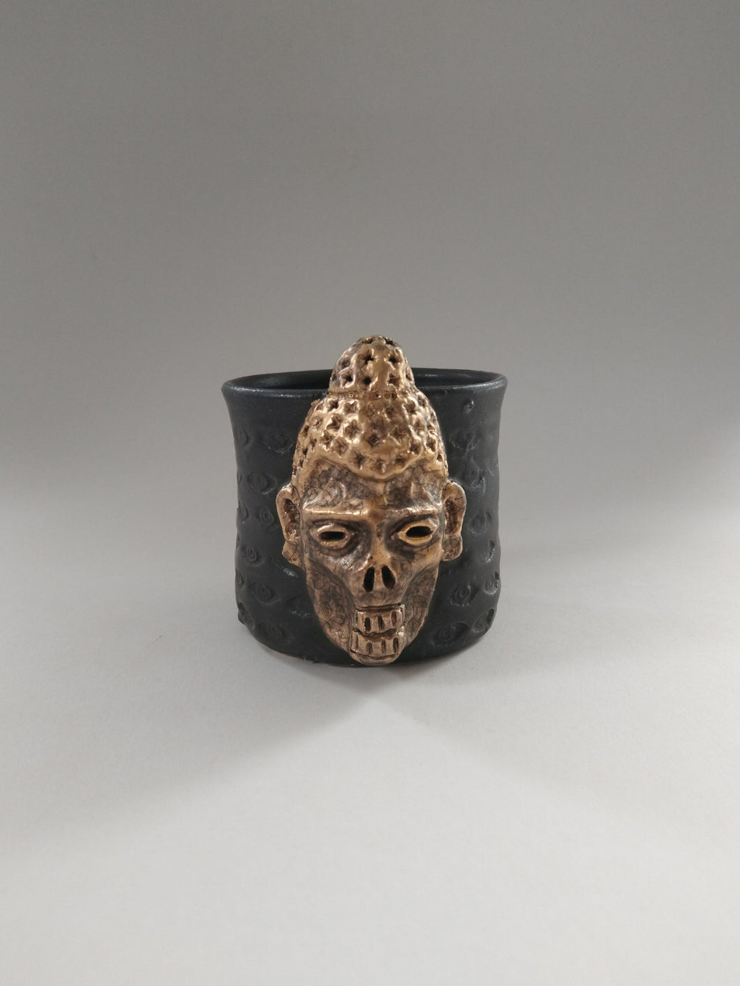Sin Tax Golden Zombie Buddha Cup with Iron Glaze