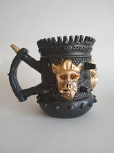 Load image into Gallery viewer, Ravishing Golden War Pig Mega Tankard with Ashtray Glaze & Hidden Danger