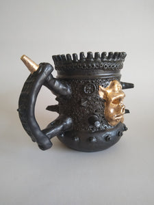 Ravishing Golden War Pig Mega Tankard with Ashtray Glaze & Hidden Danger