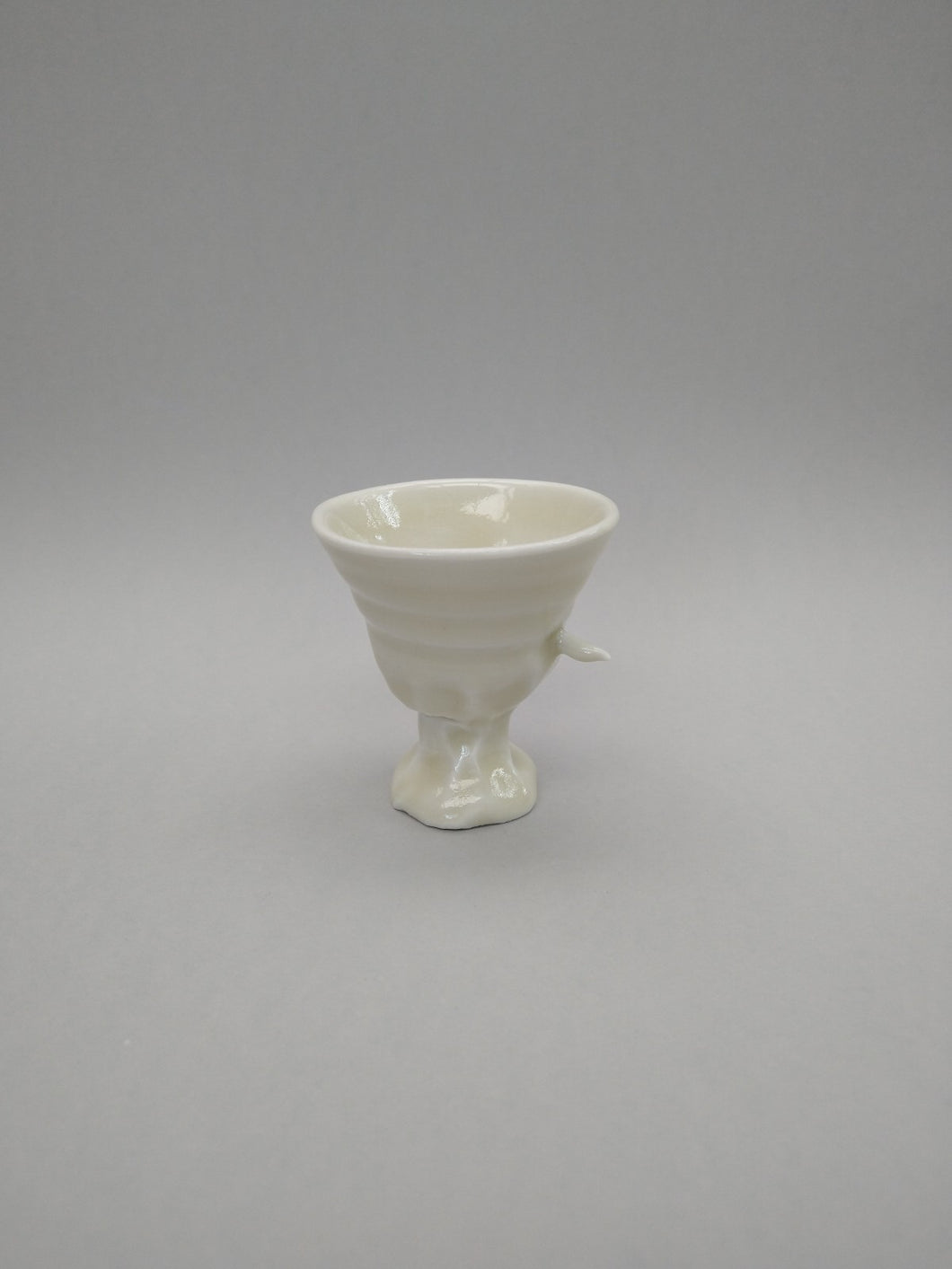Impaled Porcelain Pain Cup with Squishy Foot & Green Tea Celadon