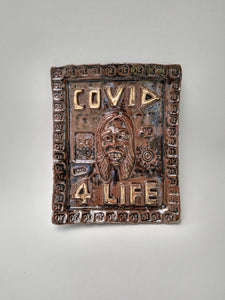 Covid 4 Life Memorial Wall Platter with Golden Hope