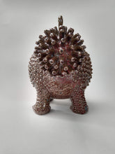 Load image into Gallery viewer, Jizzaplodicus Teapot with Persimmon Glaze & Golden Spikes