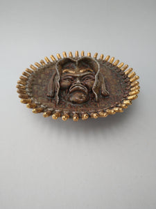 Mr Judas Colon Cheese Roll Side Plate with Golden Frills