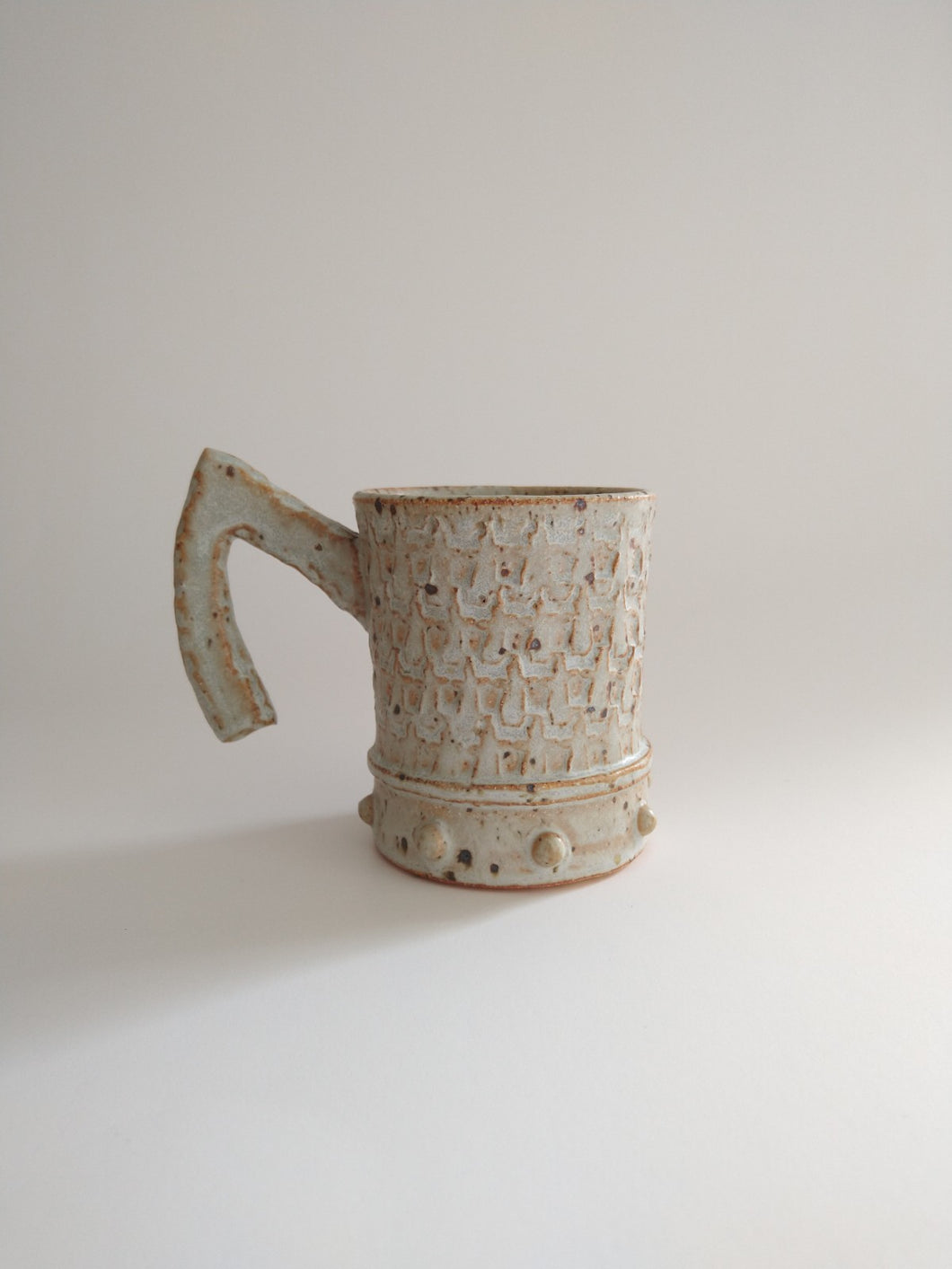 Flying Elbow Mug with Ivory Glaze