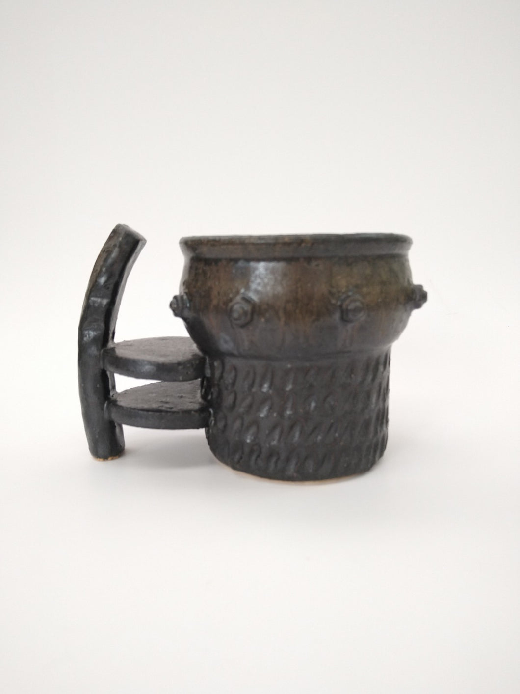 Experimental Shelf Mug with Iron Glaze