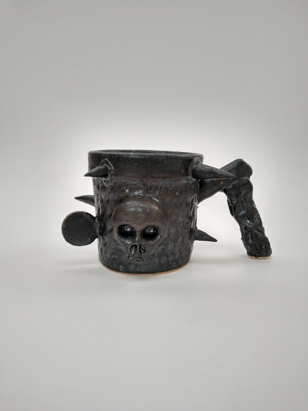 Trench Warfare Mug with Gunpowder Glaze