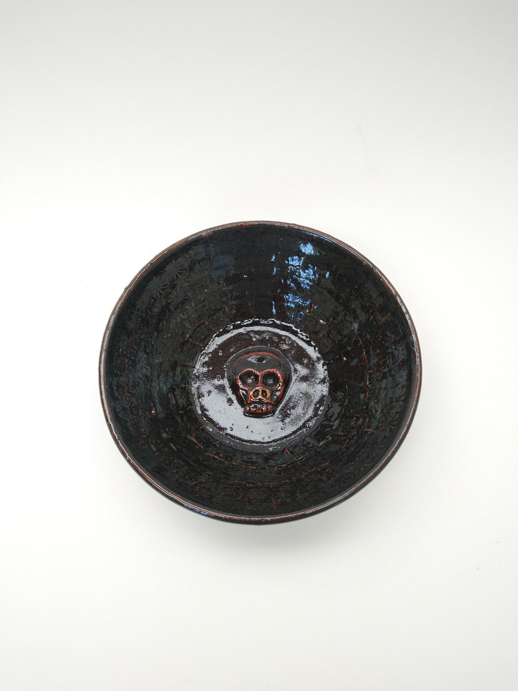 Lowrider Skull Bowl with Molasses Glaze