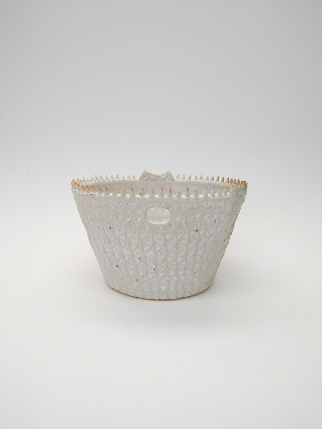 Toothy Noodle Bowl with Ivory Glaze