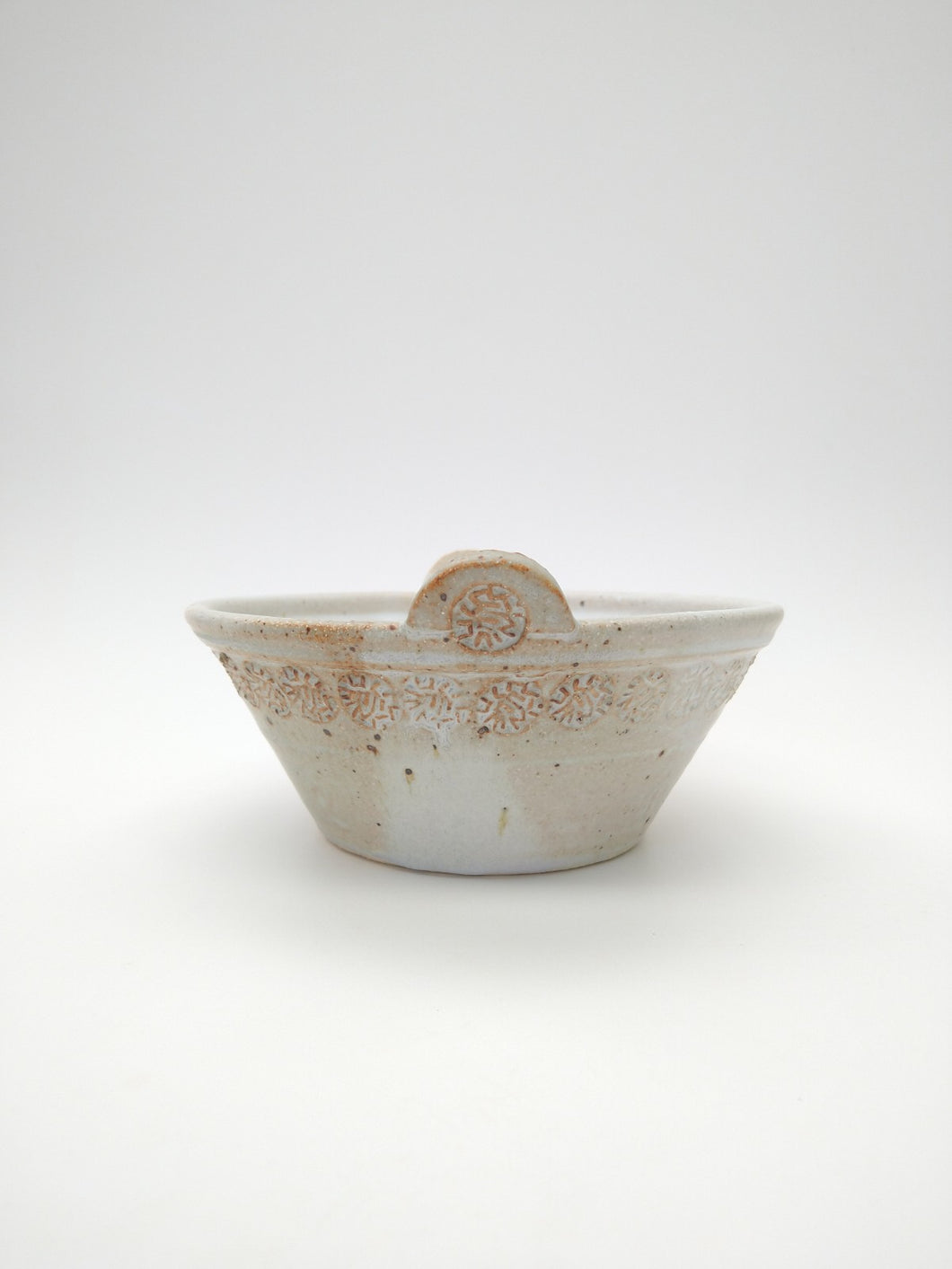 Everything Bowl (with basically pointless handles) with Ivory Glaze
