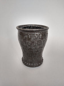 Tumbler of No Return with Iron Glaze and Death Spikes