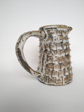 Load image into Gallery viewer, Imperil Ivory Jug with Golden Spikes & Poached Bone Glaze