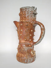 Load image into Gallery viewer, Massive Fuck Off Woodfired Jug with Golden Ghosts & Spit Nipple Spikes