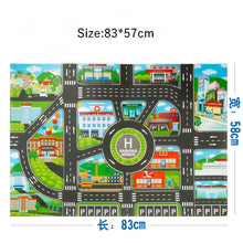 Load image into Gallery viewer, 130*100CM Large City Traffic Car Park Play Mat Waterproof Non-woven Kids Playmat Pull Back Car Toys for Children's Mat