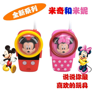 Buzz Lightyear  Toy Walkie Talkies disney Electronic Mickey Minnie Toys House toy series Mni Handheld Toys for kids gift