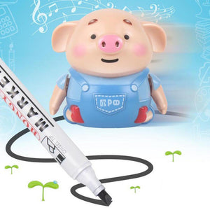 Mini Electrict Cute Pig Robot Pen Inductive Remote Radio Vehicle with Light Music Education Toy improve creativity imagination