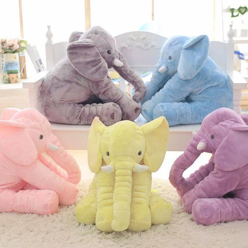 Plush Elephant Doll Toy Kids Sleeping Back Cushion Cute Stuffed Elephant Baby Accompany Doll Xmas Gift