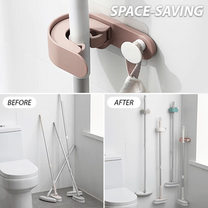 Multifunctional Wall-Mount Mop Holder