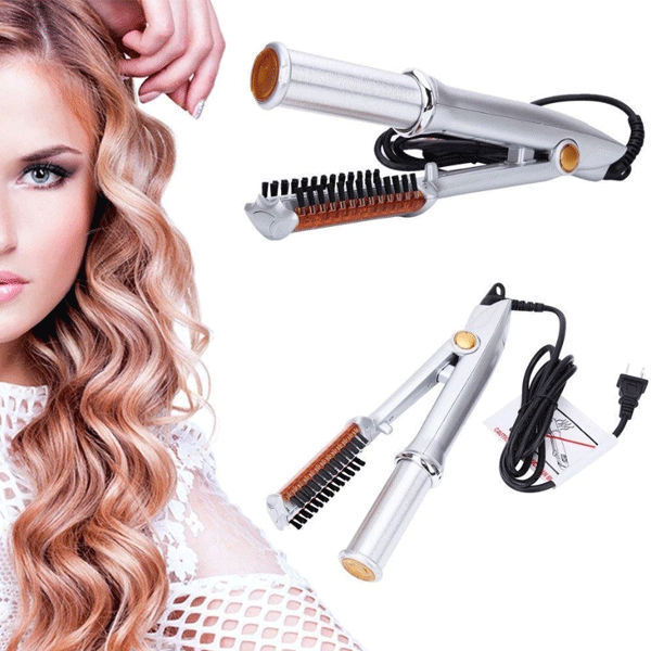 (CHRISTMAS SALE 45% OFF)2-IN-1 ROTATING CURLING IRON