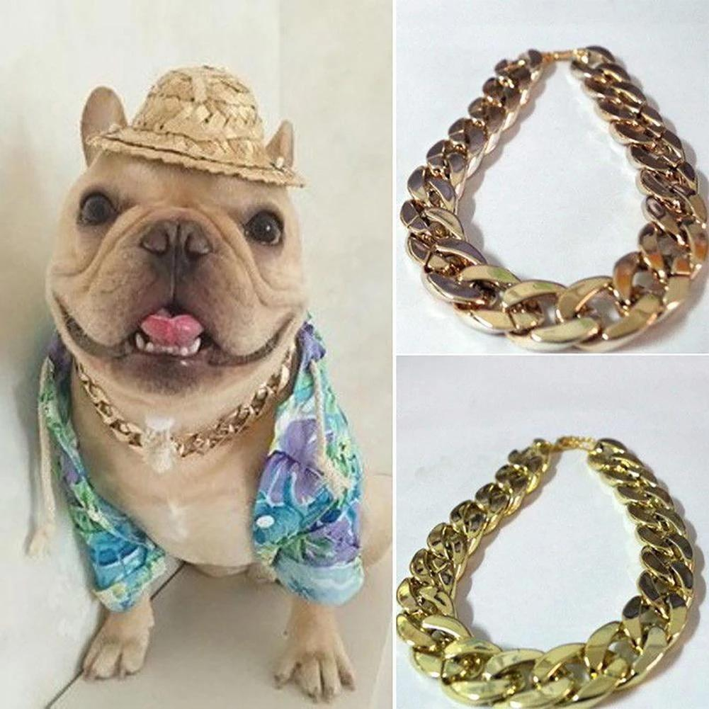 Cuban Link Thick Gold Chain Pets Safety Collar