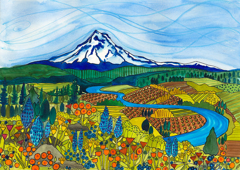 "PAINTINGS - Balsam and Lupine""  - Mt. Hood Series"