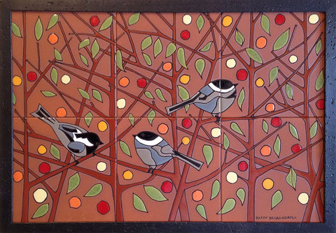 TILE MURALS - Chickadee Panel