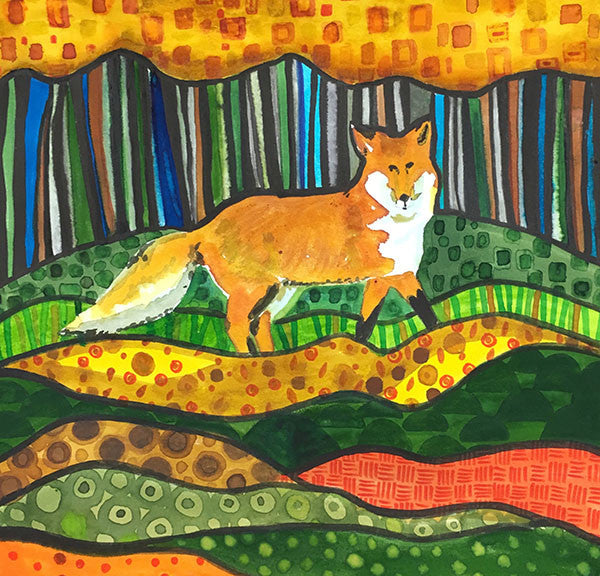 PAINTINGS - Fox in the Forest