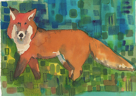PAINTINGS - Fox In the Dots