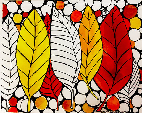 PAINTINGS - Leaf Pattern #1