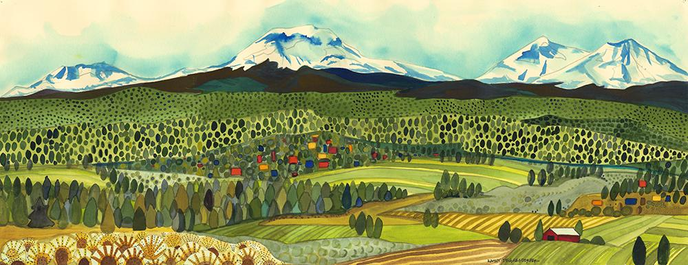 GICLEE - Three Sisters From Powell Butte
