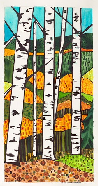 PAINTINGS - Aspens