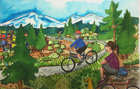 PAINTINGS - Mountain Biking in Sisters