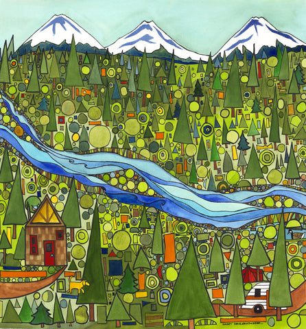 GICLEES - Mountain Homes