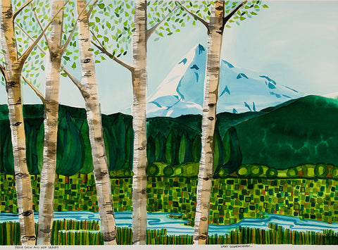 GICLEE - New Leaves and Fresh Snow