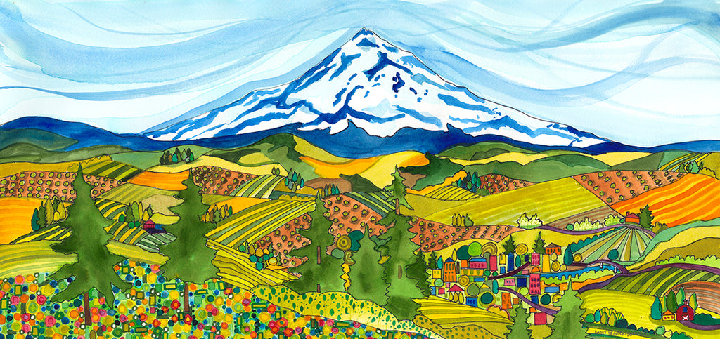 PAINTING - Valley View - Mt. Hood Series