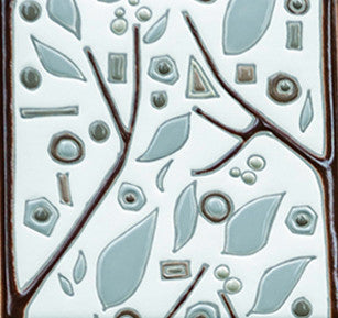 Single Tile Cool Twigs - White