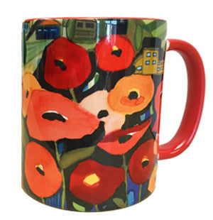 KATHY'S MUGS - Damascus Poppies